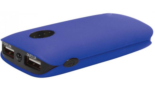 Platinet power bank 5000mAh 2xUSB, синий (42412)