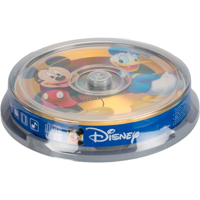 Disney CD-R 700MB 52x Mickey & Donald 10 gb. spindle iepakojumā
