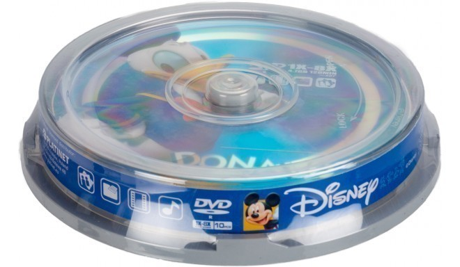 Disney DVD-R 4,7GB 8x Donald 10tk tornis