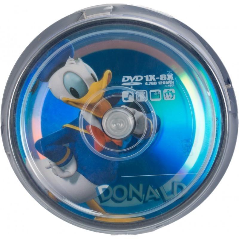 Disney DVD-R 4,7GB 8x Donald 10tk tornis