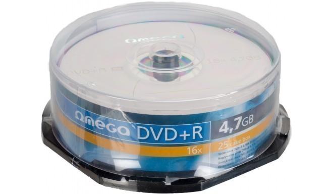 Omega DVD+R 4,7GB 16x 25tk tornis