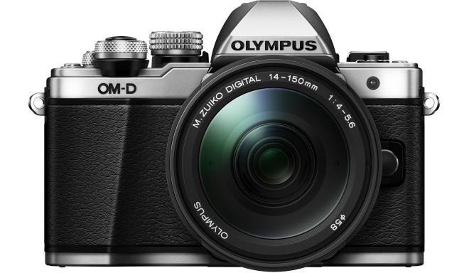 Olympus OM-D E-M10 Mark II + 14-150mm komplekts, sudrabots/melns