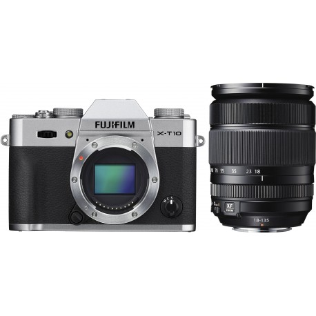 Fujifilm X-T10 + 18-135mm Kit, hõbedane