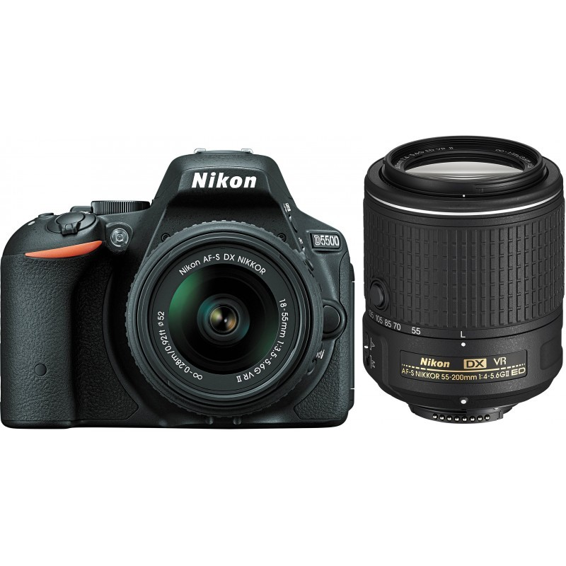 Nikon D5500 + 18-55mm VR II + 55-200mm VR II Kit, must