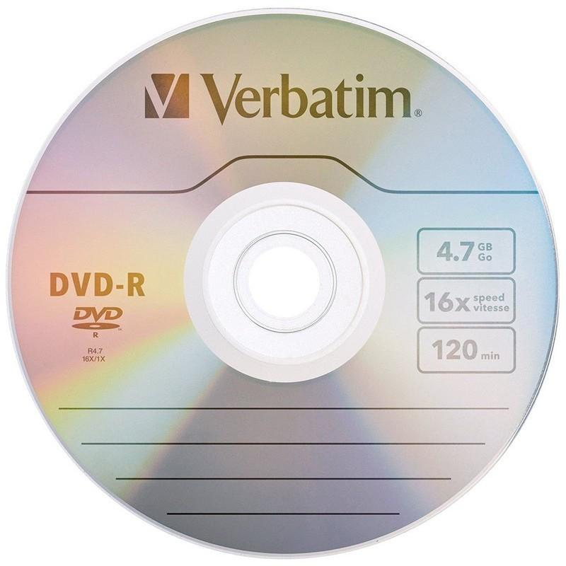 Verbatim DVD-R Matt Silver 4,7GB 16x taaspakendatud