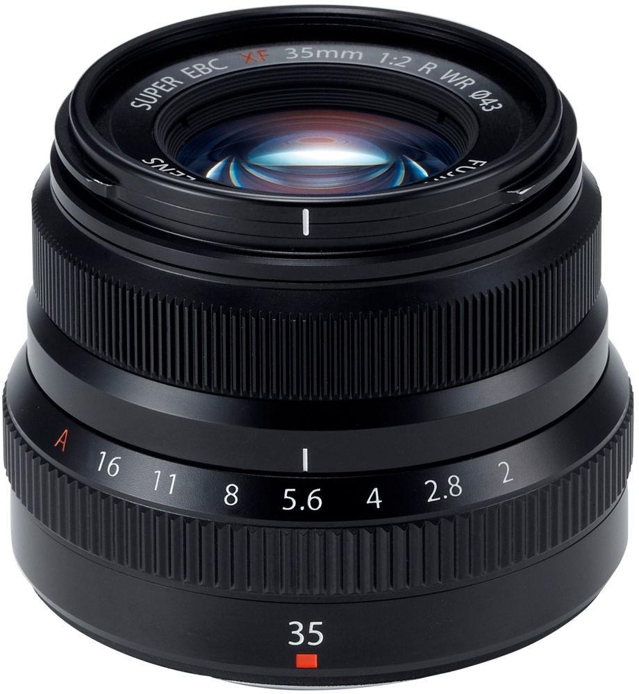 Fujinon XF 35mm f/2 R WR objektiiv, must