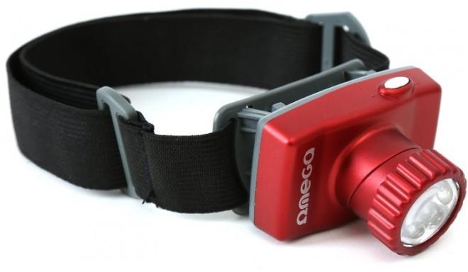 Omega pealamp 8 LED, punane