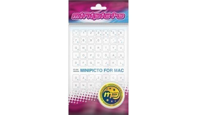 Minipicto keyboard sticker EST/RUS KB-MAC-EE-RU-WHT, white/grey/blue -  Keyboard stickers - Nordic Digital
