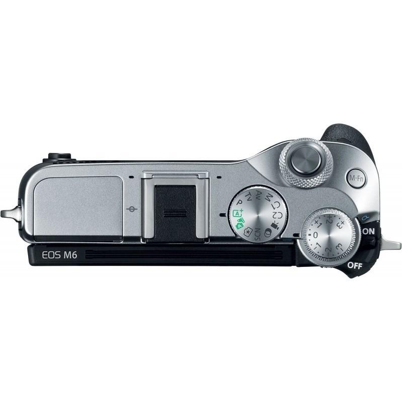 Canon EOS M6 + Tamron 18-200mm VC, hõbedane