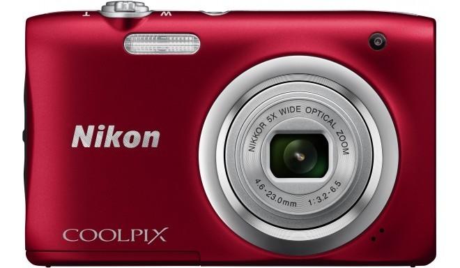 Nikon Coolpix A100, красный