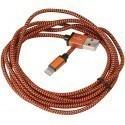 Platinet kaabel USB - Lightning 2m punutud, oranž