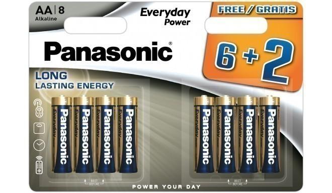 Panasonic Everyday Power baterija LR6EPS/8B (6+2)