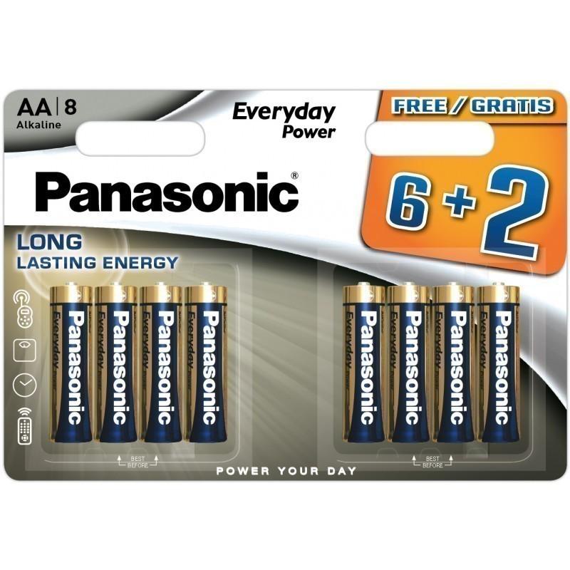 Panasonic battery LR6EPS/8B (6+2)