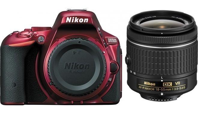 Nikon D5500 + 18-55mm AF-P VR Kit, punane