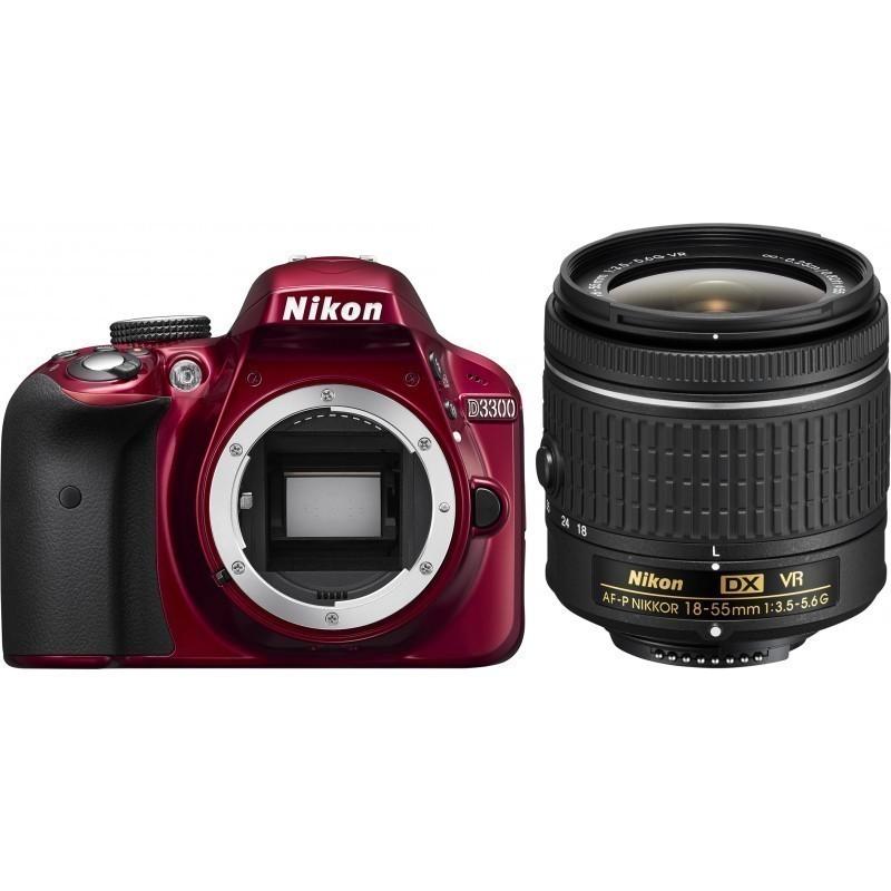 Nikon D3300 + 18-55mm AF-P VR Kit, punane