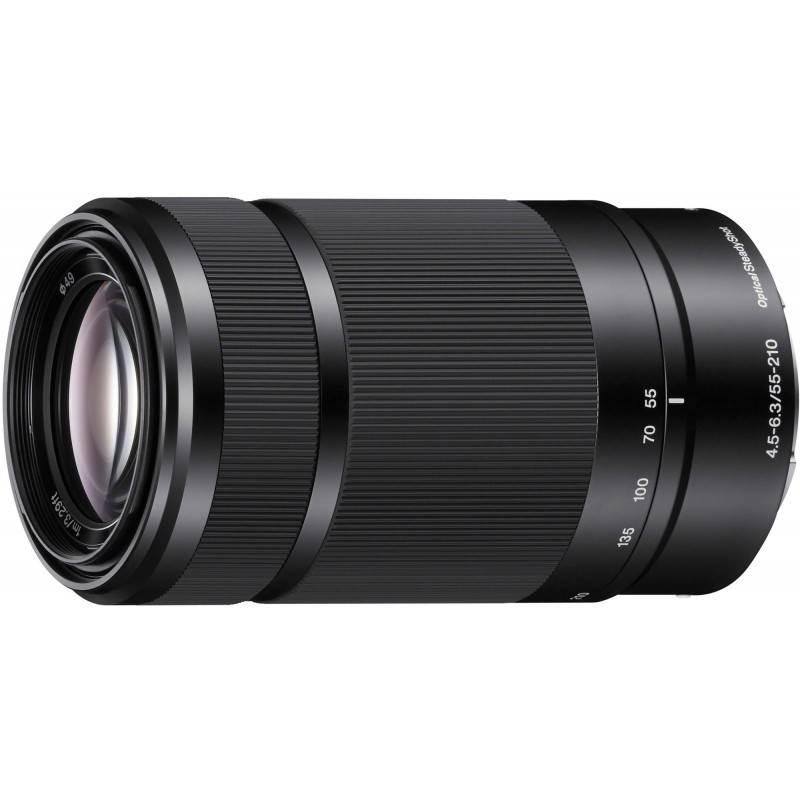 Sony E 55-210mm f/4.5-6.3 OSS objektiiv, must