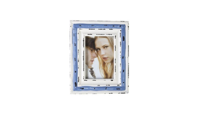 Photo frame OCEAN 8x11cm, antique white/blue - Photo frames - Photopoint