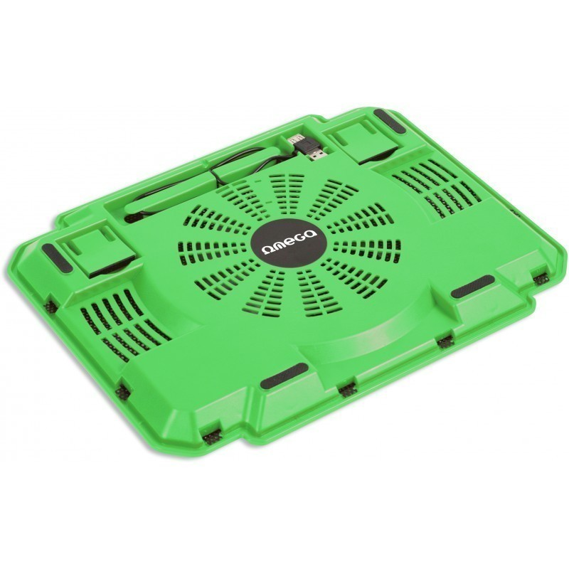 Omega laptop cooler pad Ice Box, green