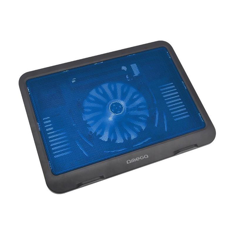 Omega охлаждающая подставка для ноутбука Wind, синий