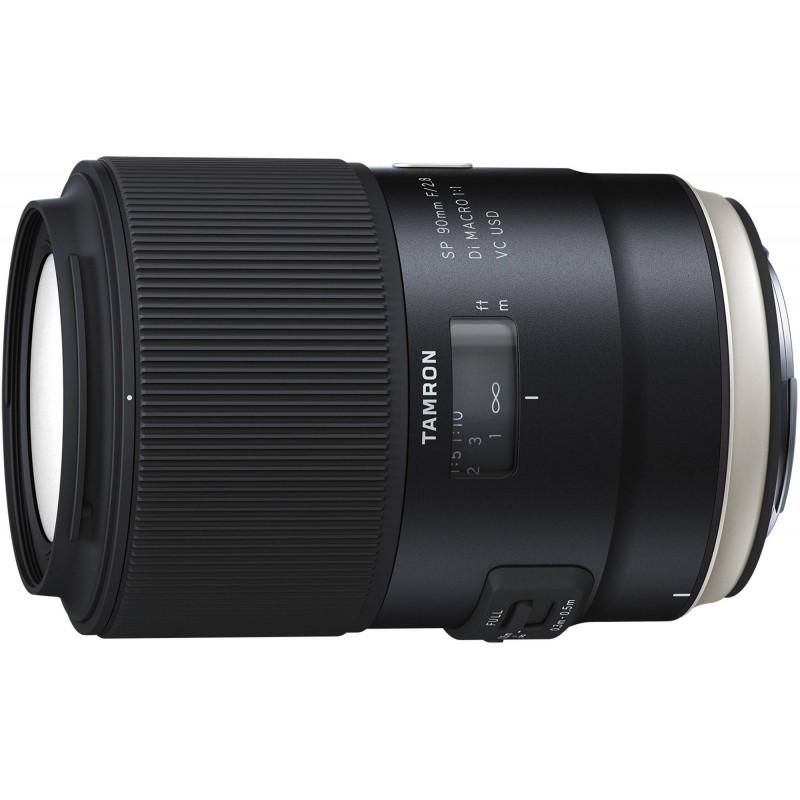Tamron SP 90mm f/2.8 Di VC USD Macro objektiiv Canonile