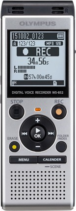 Olympus diktofon WS-852, hõbedane