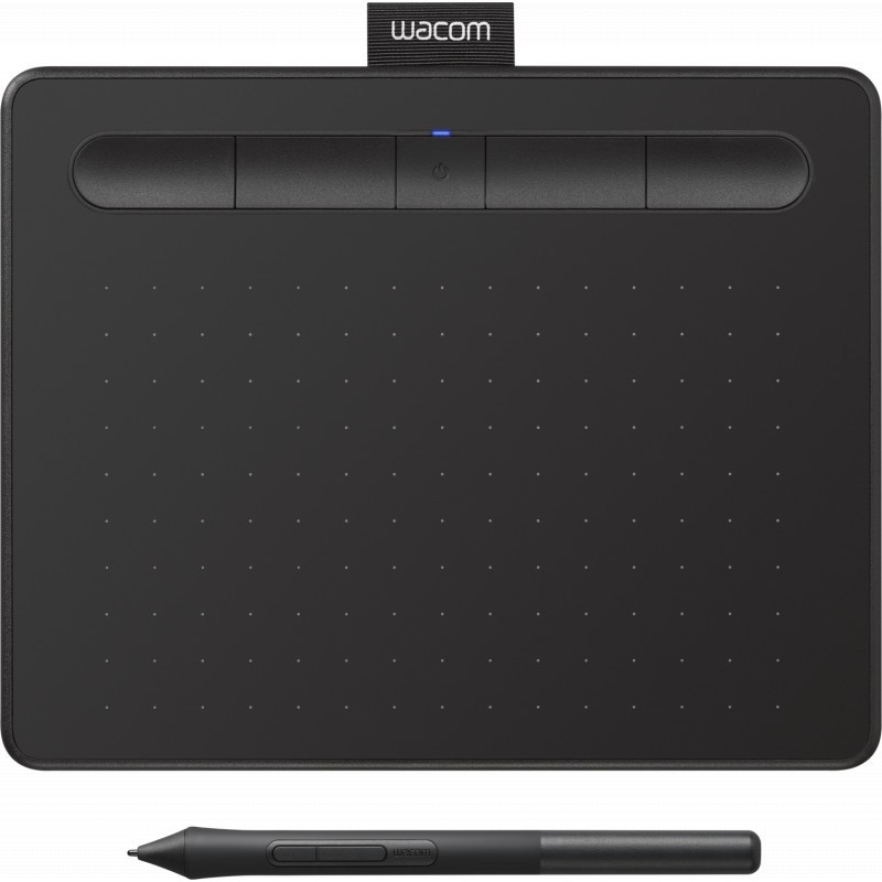Wacom графический планшет Intuos S Bluetooth, черный