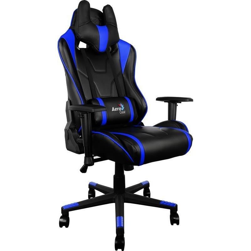 Aerocool Gaming Chair AC-220 BLACK / BLUE  sc 1 st  Photopoint & Aerocool gaming chair AC-220 black/blue - Gaming chairs - Photopoint