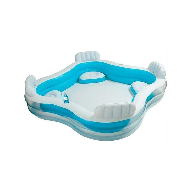 Family Paddling Pool With Seats Intex Beach Toys