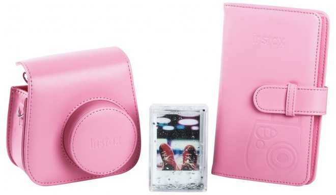 Fujifilm Instax Mini 9 accessory kit, flamingo pink