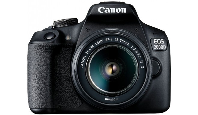 Canon EOS 2000D + 18-55mm IS II Kit, melns