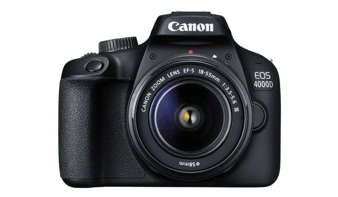 Canon EOS 4000D + 18-55 мм III Kit, черный