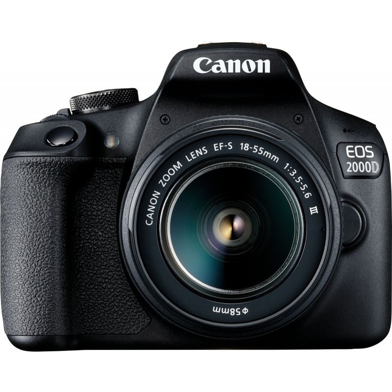 Canon EOS 2000D + 18-55mm III Kit, black