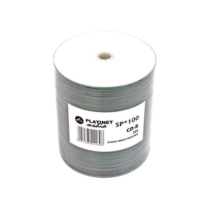 Platinet CD-R 700MB 52x Glossy Print 100tk tornis