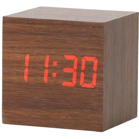 Platinet modinātājpulkstenis Wooden Cube (43242)