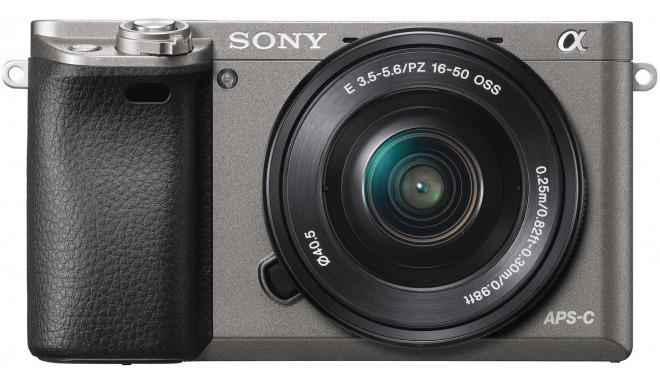 Sony a6000 + 16-50mm Kit, grafīta krāsas
