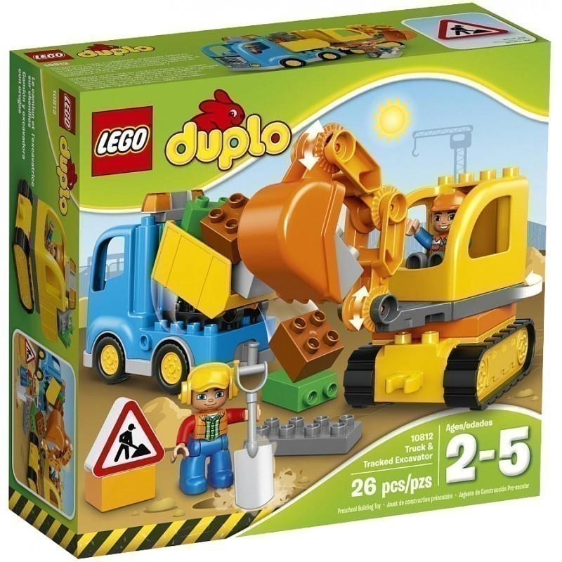 Lego Duplo Rotaļu Klucīši Kravas Auto Un Ekskavators 26gb 10812