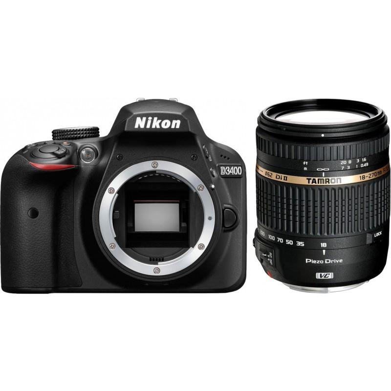 Nikon D3400 + Tamron 18-270mm, black
