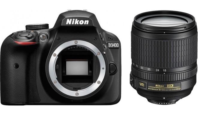 Nikon D3400 + 18-105mm AF-S VR Kit, must