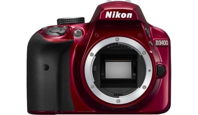 Nikon D3400 корпус, красный