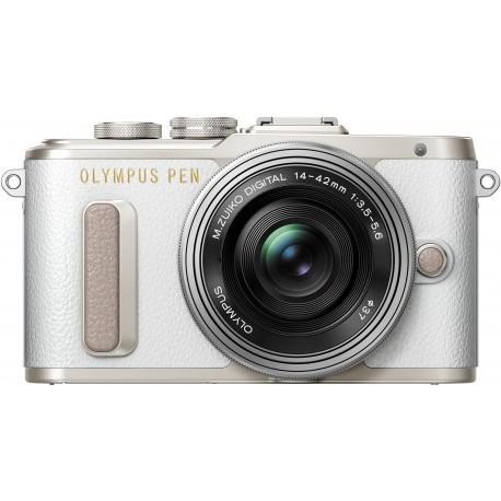 Olympus PEN Lite E-PL8 + 14-42mm EZ Kit, white/silver