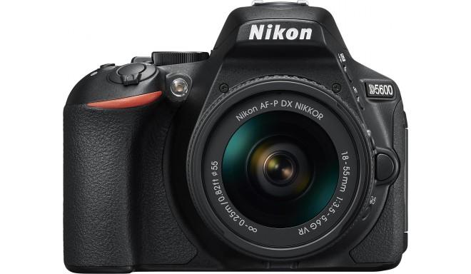 Nikon D5600 + 18-55mm AF-P VR Kit, melns