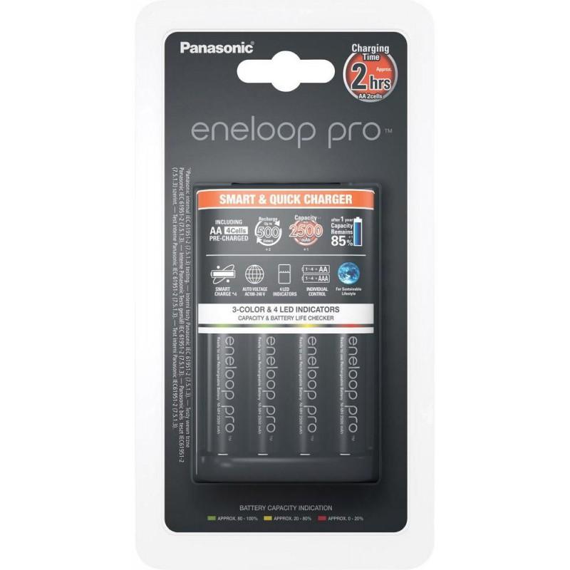 Panasonic eneloop laadija BQ-CC55 + 4x2500