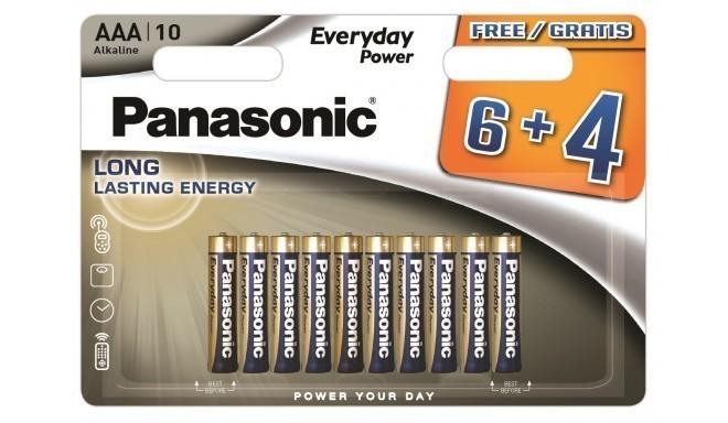 Panasonic Everyday Power patarei LR03EPS/10BW (6+4)