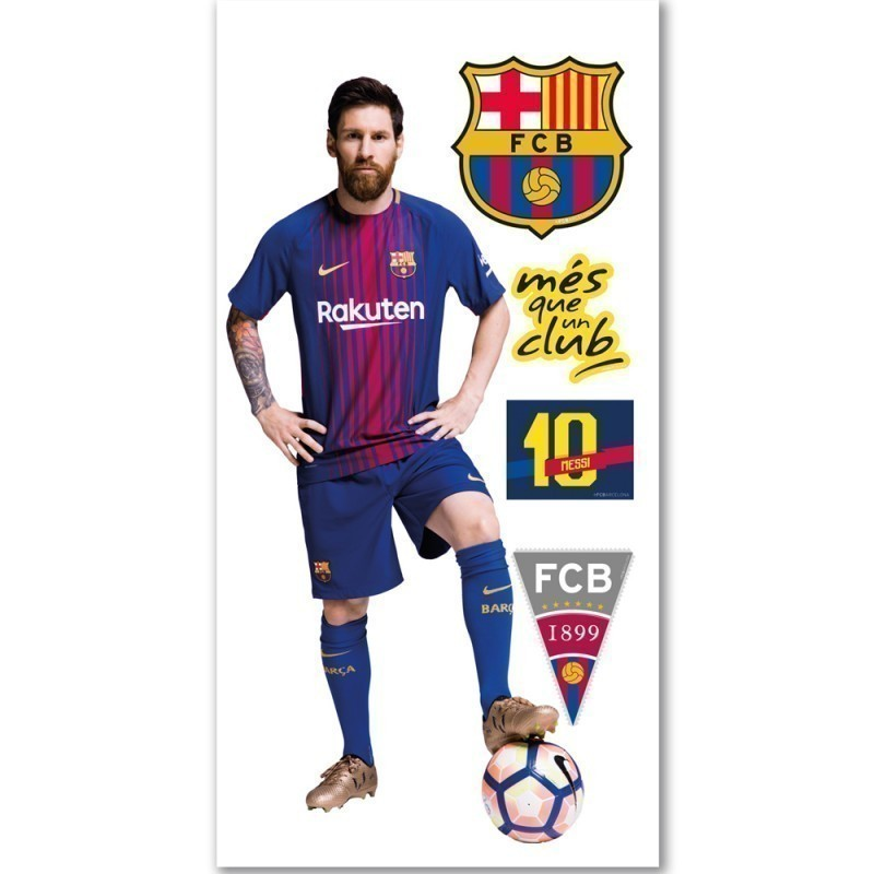 Fc Barcelona Stickers.Fc Barcelona Messi Jumbo Wall Sticker Textile