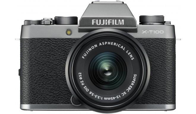 Fujifilm X-T100 + 15-45mm Kit, pelēks