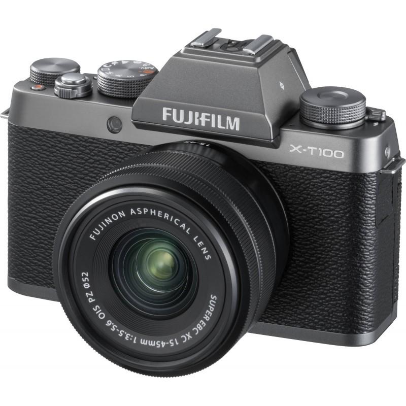 Fujifilm X-T100 + 15-45mm Kit, grey