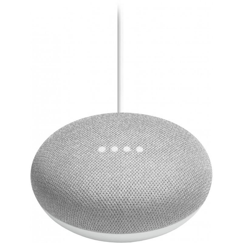 Google Home Mini smart speaker, chalk