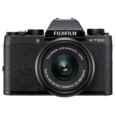 Fujifilm X-T100 + 15-45mm Kit, melns