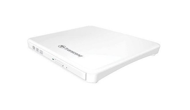 Transcend external DVD drive Slim TS8XDVDS, white