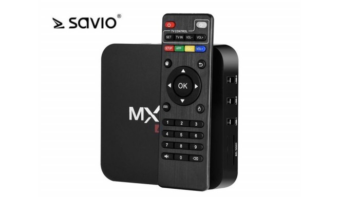 CD player multimedia SAVIO TV Box SAVTVBOX-01 (3G, LAN (RJ-45), WiFi; black color)